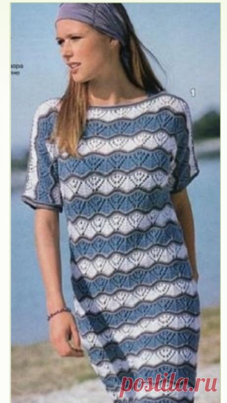 Платье спицами 2021