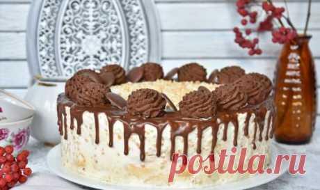 Банановый торт без выпечки — готовится быстро, а гости всегда просят «ещё кусочек!»   Офигенная