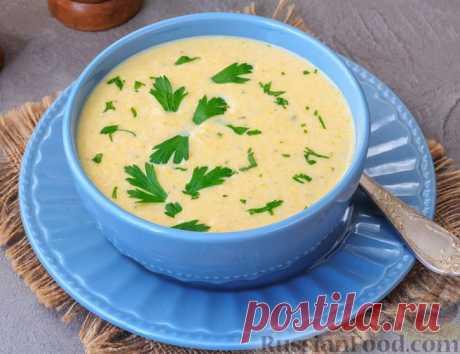 Рецепт: Куриный суп-пюре с грибами, кабачком и плавленым сыром на RussianFood.com