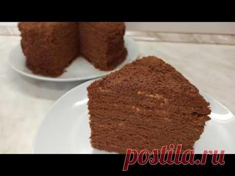 Тающий во рту торт Шоколадный Медовик со сметанным кремом
