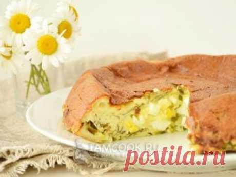 Проверенный рецепт приготовления пирога с черемшой и яйцом, шаг за шагом с фотографиями.
