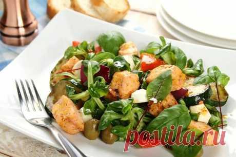 Итальянский салат с лососем и моцареллой – пошаговый рецепт с фото.