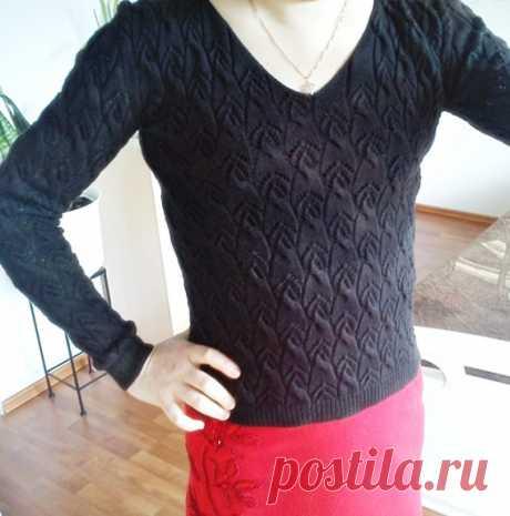 Черненький, ажурненький свитерок... - запись пользователя rossa (Росса) в сообществе Вязание спицами в категории Вязание спицами. Работы пользователей