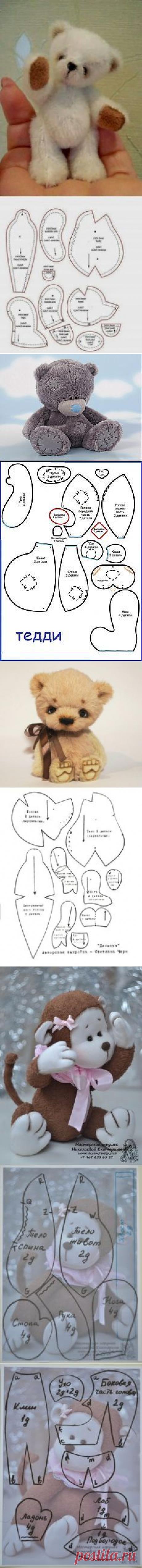 (80) Osos de peluche en miniatura y otra muñeca SERIE juguetes en sus manos. | # Old & News Bears #