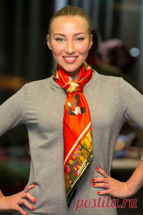 10 способов красиво завязать платок - Леди Mail.Ru