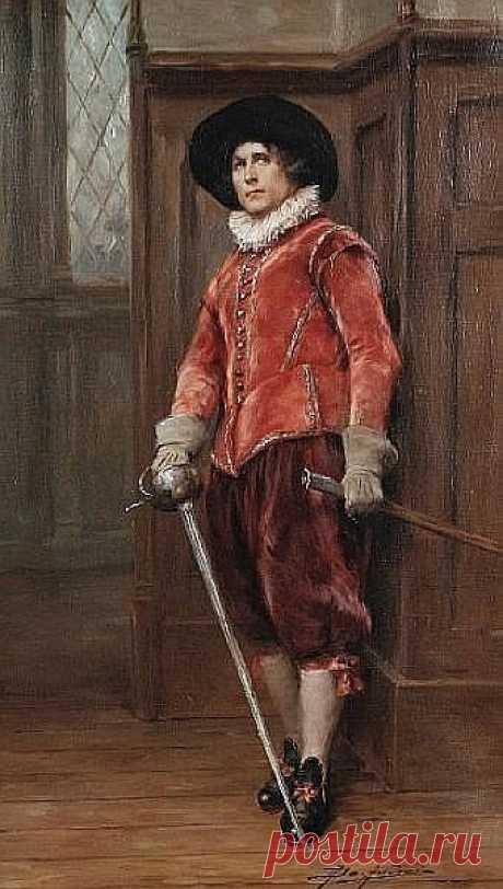 Alex de Andreis (British, 1880-1929) The cavalier - Salvabrani