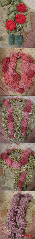 (+1) - Букет цветов из Ниццы...Мои шарфы. | СВОИМИ РУКАМИ
