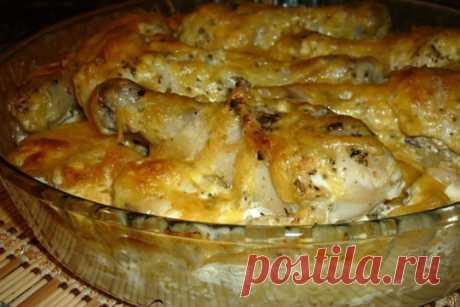 Картошка с куриными ножками в духовке — ХОЗЯЮШКА