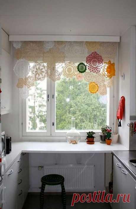 16 оригинальных идей для штор на кухне - Roomble.com