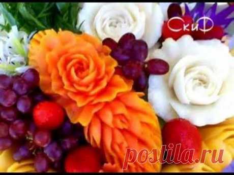 """Программа """"Подумать только"""": цветы из овощей и фруктов"""