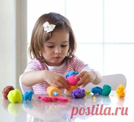 Самодельный пластилин для детей. 2 способа..