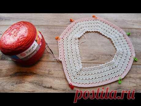 Летняя кофточка А-силуэта крючком 🍓 Summer crochet  blouse