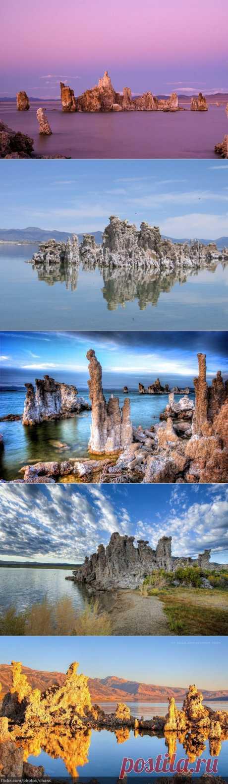 Las torres mágicas del lago Mono: las NOVEDADES En las FOTOGRAFÍAS