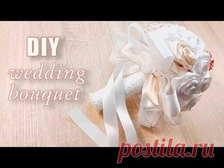 Как сделать свадебный букет дублер невесты своими руками | How to Make DIY Wedding Bouquet - YouTube