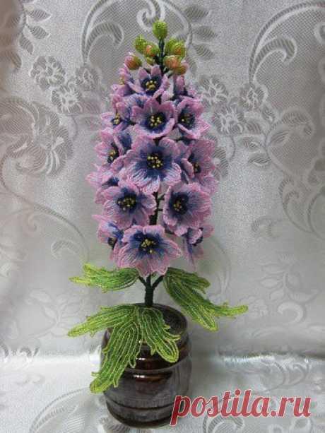 Красивый цветок из бисера: гиацинт — Сделай сам, идеи для творчества - DIY Ideas