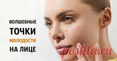 """Волшебные точки молодости на лице: Код красоты и молодости - Женский журнал """"Красота и здоровье"""""""
