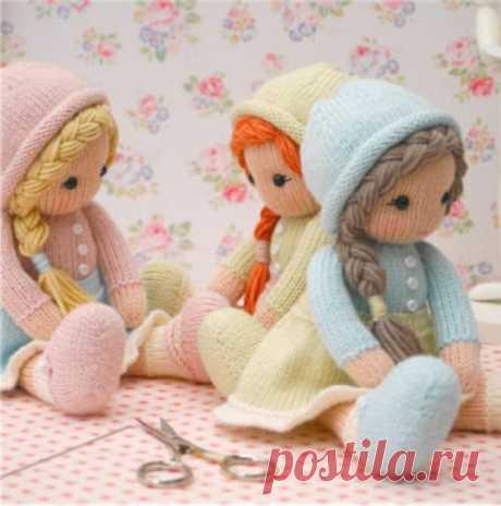 Вязаные куклы спицами с описанием и фото, подробный мастер класс