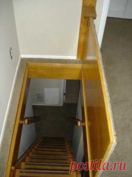 Carpeted Trap Door to Basement