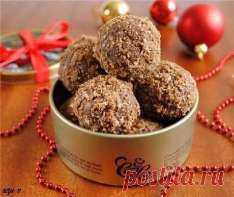Шоколадные шарики из вафель - Печенье