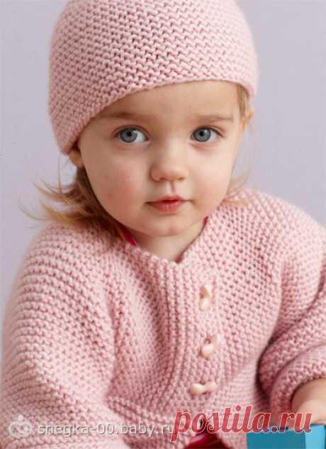 Детский кардиган и шапочка 6 месяцев, 1 годик, 1.5 года, 2 года и 3 года.