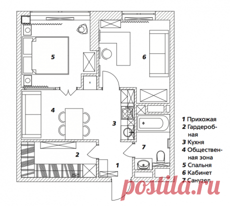 Дизайн интерьера квартиры дизайнера Алексея Сушкова, 47 м²   AD Magazine