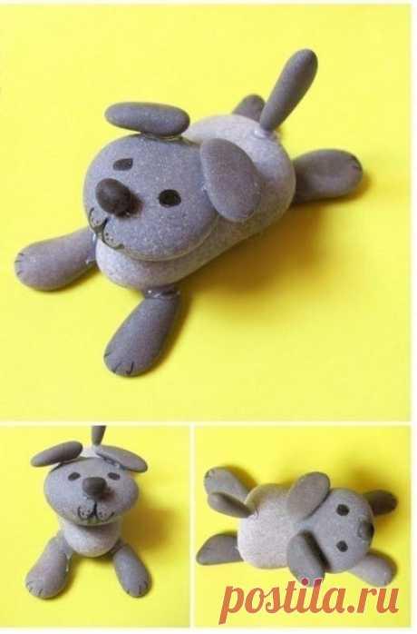 Креативные каменные поделки