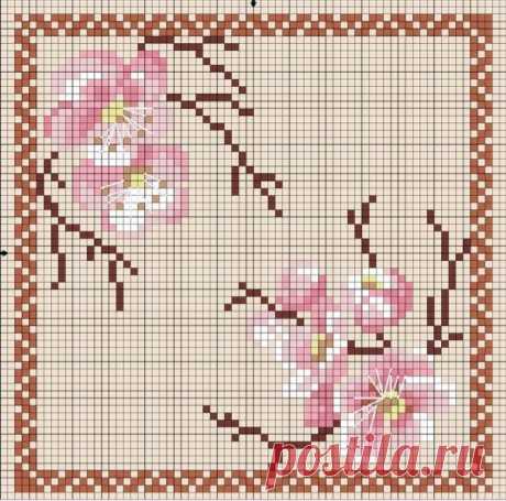 Схема вышивки крестом Пендибуль «Япония» (Бискорню и др. кривульки)