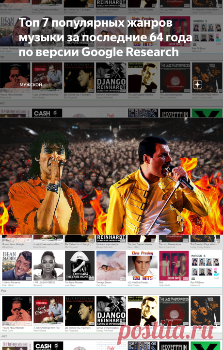 Топ 7 популярных жанров музыки за последние 64 года по версии Google Research | МУЖСКОЙ | Яндекс Дзен
