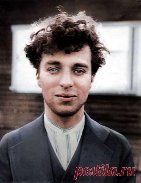 Чарли Чаплин в возрасте 27 лет, 1916 год.