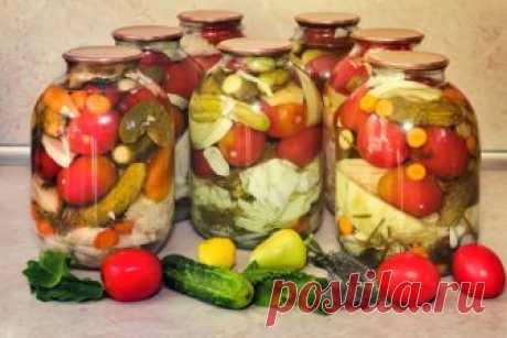 Ассорти на зиму из овощей: самые вкусные рецепты заготовок