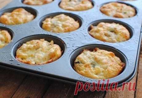 Куриные маффины с сыром — Sloosh – кулинарные рецепты
