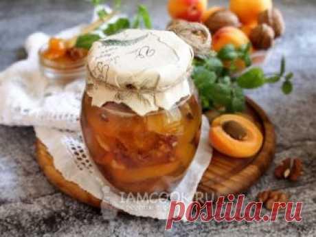 Варенье из абрикосов с грецким орехом — рецепт с фото Варим оригинальное и вкусное абрикосовое варенье с грецкими орехами на зиму.