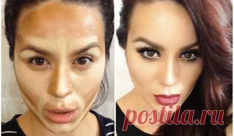 Девушки до и после макияжа / Все для женщины