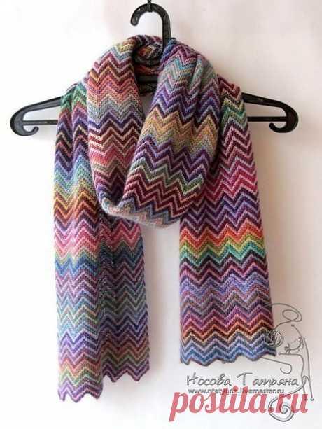 Позитивный шарф (Вязание спицами) – Журнал Вдохновение Рукодельницы