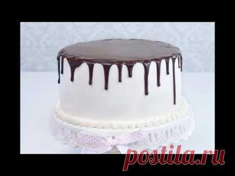 Шоколадные подтеки на торте: 2 рецепта  Шоколадные подтеки делают домашний тортик еще более аппетитным и красивым, согласны? Ставьте   Приготовить шоколадную глазурь можно за пару секунд растопив всего лишь немного шоколада, а что бы сделать безупречные шоколадные подтеки нужно знать несколько хитростей, которыми вы узнаете из видео.  Смотрите урок, как сделать шоколадную глазурь для торта КОТОРАЯ ВСЕГДА ПОЛУЧАЕТСЯ с первого раза и шоколадные подтеки на торте которые засты...