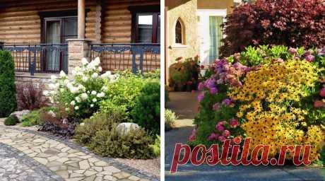 Оформляем вход в дом многолетними цветами и кустарниками : 45 идей | Идеи для Дома