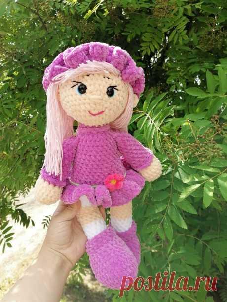 кукла плюшевая крючком схема мастер - класс