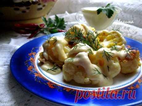 Цветная капуста в кляре с сырным соусом — лучшая закуска этим летом!