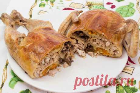 Курица фаршированная блинами - рецепт с фото / Простые рецепты