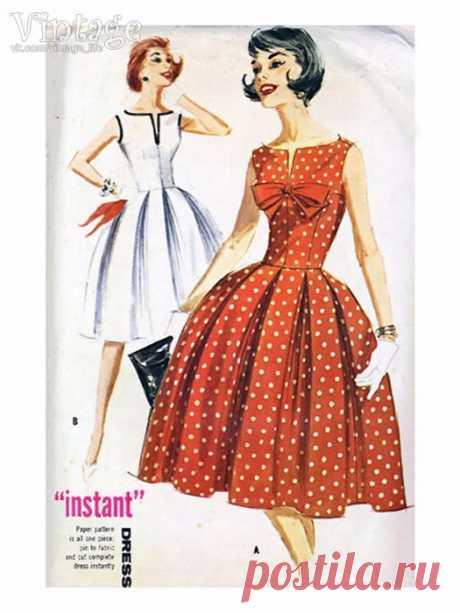 ВЫКРОЙКА. Платье в стиле нью-лук.