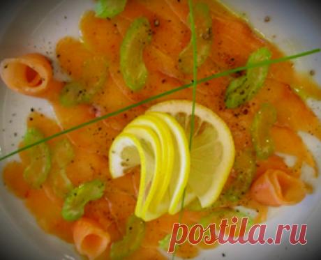 Карпаччо из красной рыбы по рецепту итальянского друга не стыдно поставить и на праздничный стол | Красота и вкус | Яндекс Дзен