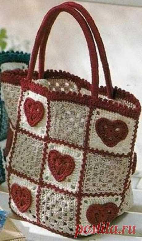 Вяжем красивые сумочки