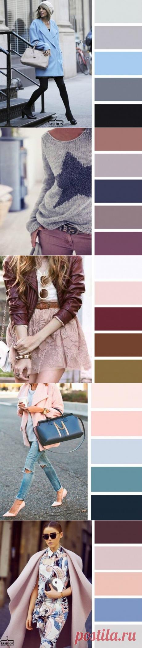 Цветовая палитра 2016 - сочетания в одежде