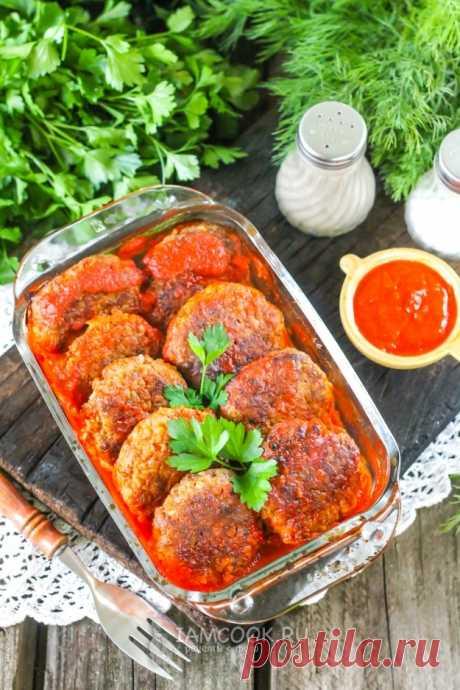 Жареные гречаники в томатном соусе в духовке — рецепт с фото пошагово