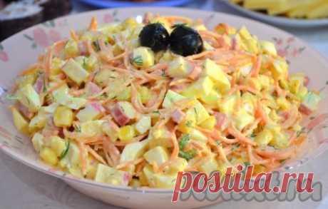 """Салат с морковью по-корейски и крабовыми палочками """"Валерия"""" - 5 пошаговых фото в рецепте"""