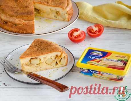 Заливной сырный пирог с картофелем – кулинарный рецепт