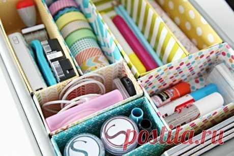 Наводим порядок в ящиках — Сделай сам, идеи для творчества - DIY Ideas