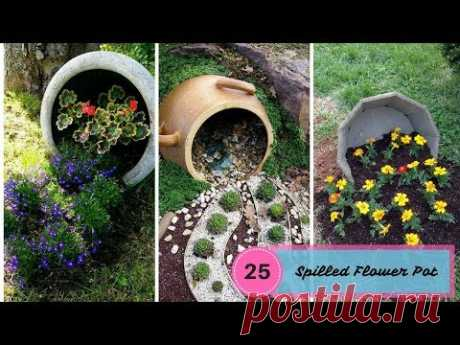 25 Most Beautiful Spilled Flower Pot - The Art Of Gardening - YouTube