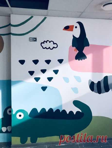Роспись стен в детской комнате 7 простых идей