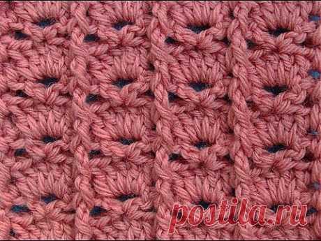 Узор вязания крючком 9 Crochet pattern - YouTube